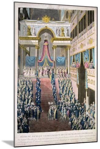 Napoleon Bonaparte Is Crowned Emperor Napoleon I, 2nd December, 1804, 19th Century--Mounted Giclee Print