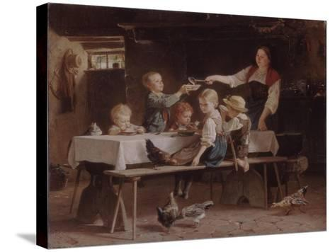Kids at Lunch, 1857-Marc Louis Benjamin Vautier-Stretched Canvas Print