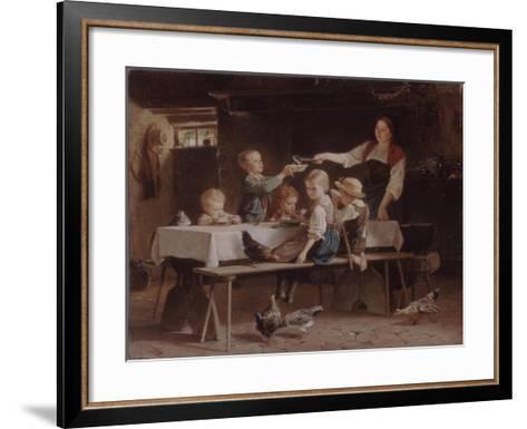 Kids at Lunch, 1857-Marc Louis Benjamin Vautier-Framed Art Print