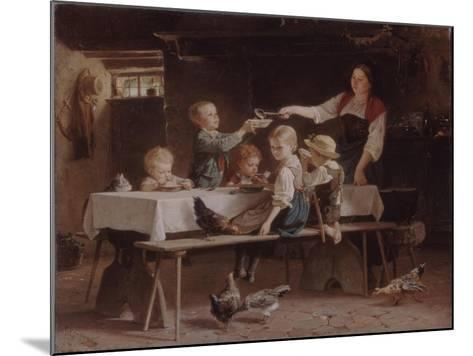 Kids at Lunch, 1857-Marc Louis Benjamin Vautier-Mounted Giclee Print