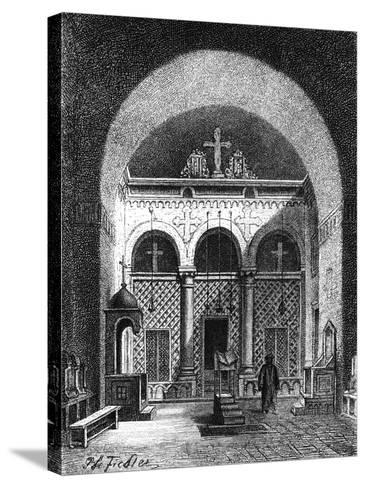 Interior of a Church, Egypt, 1881--Stretched Canvas Print