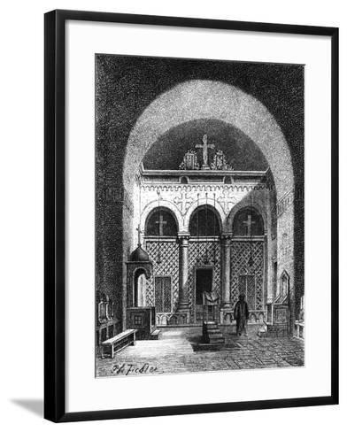 Interior of a Church, Egypt, 1881--Framed Art Print