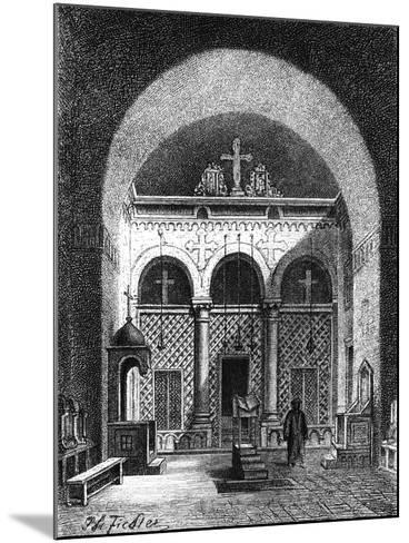 Interior of a Church, Egypt, 1881--Mounted Giclee Print
