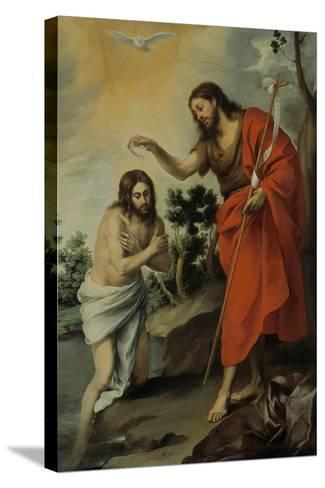 The Baptism of Christ, 1655-Bartolom? Esteb?n Murillo-Stretched Canvas Print