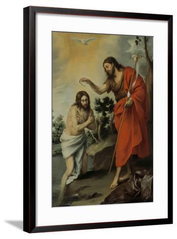 The Baptism of Christ, 1655-Bartolom? Esteb?n Murillo-Framed Art Print