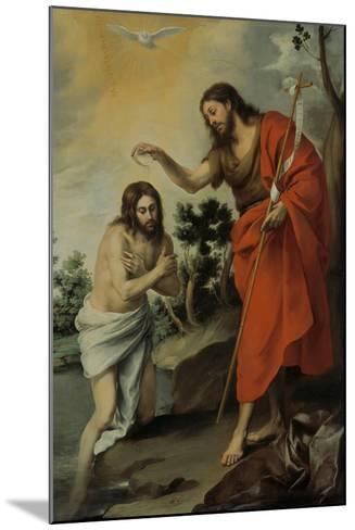The Baptism of Christ, 1655-Bartolom? Esteb?n Murillo-Mounted Giclee Print