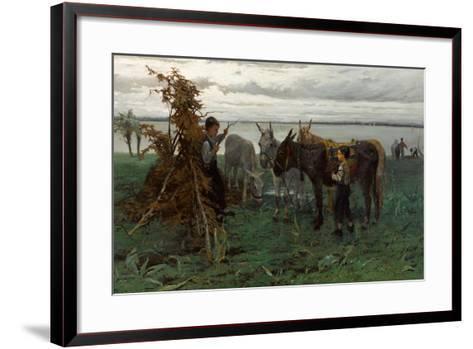 Boys Herding Donkeys, 1865-Willem Maris-Framed Art Print
