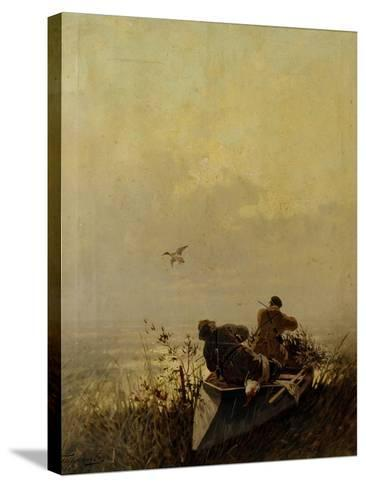 Duck Hunting, 1905-Evgeny Alexandrovich Tichmenev-Stretched Canvas Print