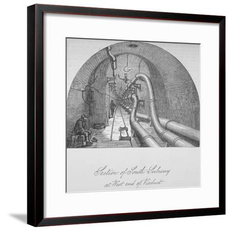 View of the South Subway at the West End of Holborn Viaduct, City of London, 1871--Framed Art Print