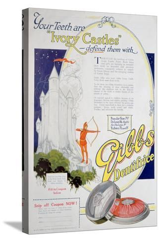 Advert for Gibbs Solid Dentifrice, 1922--Stretched Canvas Print
