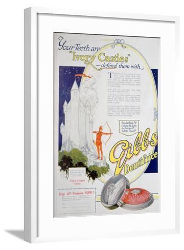 Advert for Gibbs Solid Dentifrice, 1922--Framed Art Print