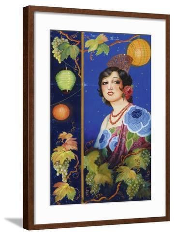 Young Woman with Shawl-Ramón José Izquierdo y Garrido-Framed Art Print