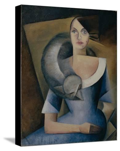 Portrait of Demidova, 1920s-Yelena Mikhailovna Bebutova-Stretched Canvas Print