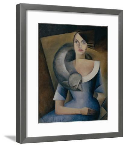 Portrait of Demidova, 1920s-Yelena Mikhailovna Bebutova-Framed Art Print