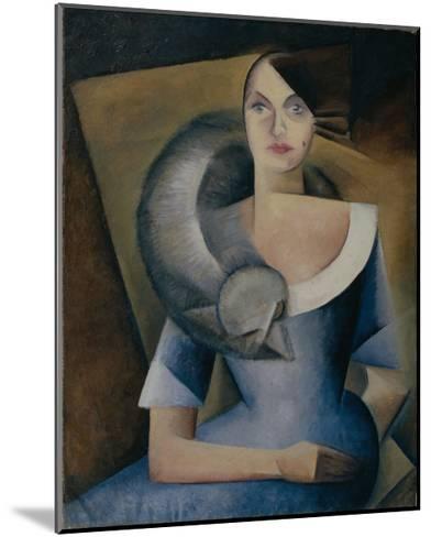 Portrait of Demidova, 1920s-Yelena Mikhailovna Bebutova-Mounted Giclee Print