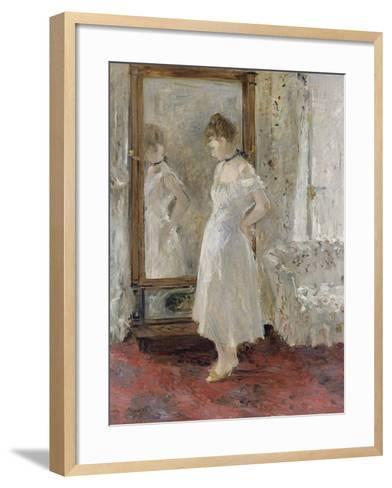 The Cheval Glass, 1876-Berthe Morisot-Framed Art Print
