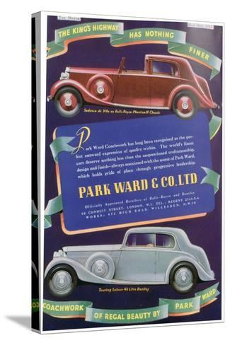 Advert for Park Ward and Co Car Coachwork, 1937--Stretched Canvas Print