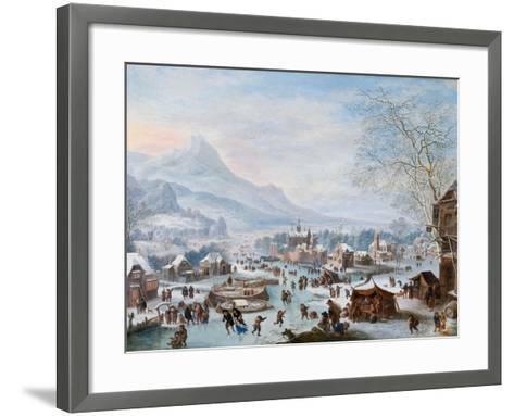 Winter Scene with Skaters-Jan Griffier-Framed Art Print