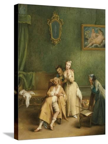 The Tickle, C. 1755-Pietro Longhi-Stretched Canvas Print