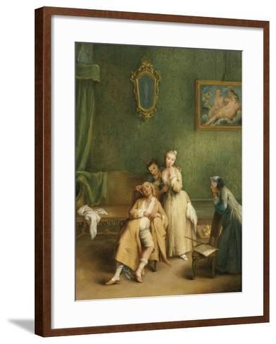 The Tickle, C. 1755-Pietro Longhi-Framed Art Print