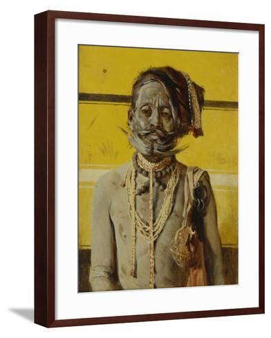 A Fakir, 1874-1876-Vasili Vasilyevich Vereshchagin-Framed Art Print