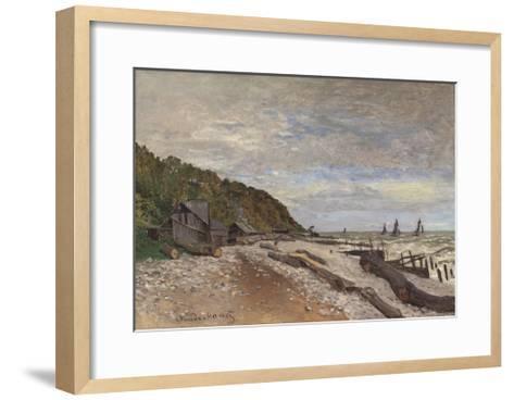 Le Chantier De Petits Navires, Près De Honfleur, 1864-Claude Monet-Framed Art Print