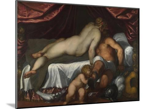 Mars and Venus, Ca 1590-Jacopo Palma il Giovane the Younger-Mounted Giclee Print