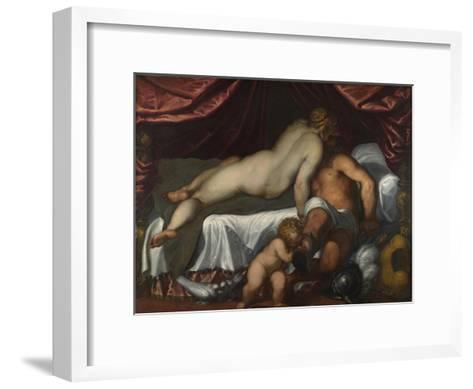 Mars and Venus, Ca 1590-Jacopo Palma il Giovane the Younger-Framed Art Print