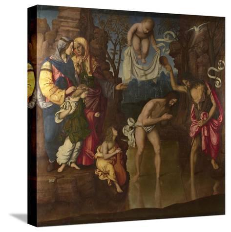 The Baptism of Christ, 1514-Francesco Zaganelli-Stretched Canvas Print