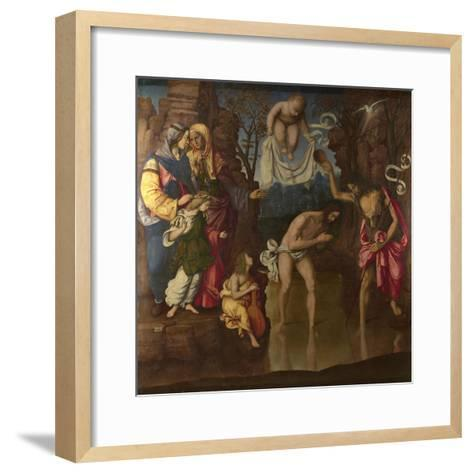 The Baptism of Christ, 1514-Francesco Zaganelli-Framed Art Print