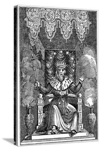 Thor, the Second God in the Ancient Scandinavian Pantheon, 1834--Stretched Canvas Print