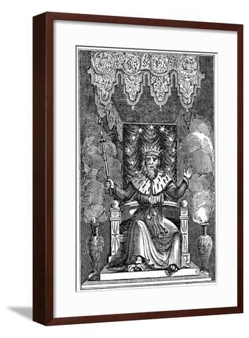 Thor, the Second God in the Ancient Scandinavian Pantheon, 1834--Framed Art Print