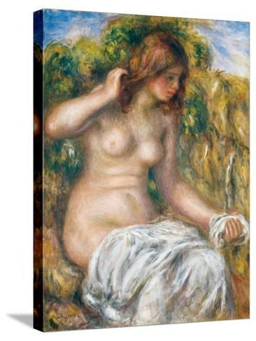 Woman by Spring, 1914-Pierre-Auguste Renoir-Stretched Canvas Print