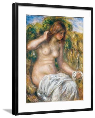 Woman by Spring, 1914-Pierre-Auguste Renoir-Framed Art Print