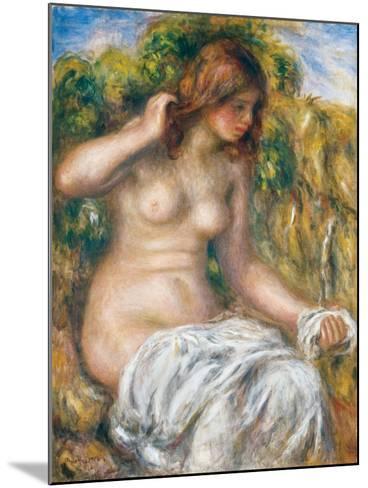 Woman by Spring, 1914-Pierre-Auguste Renoir-Mounted Giclee Print