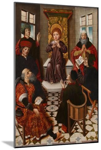 Christ Among the Doctors-Diego De La Cruz-Mounted Giclee Print