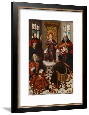 Christ Among the Doctors-Diego De La Cruz-Framed Art Print