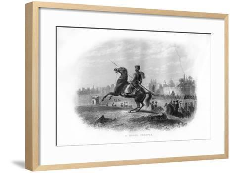 A Mogul Trooper, 19th Century--Framed Art Print