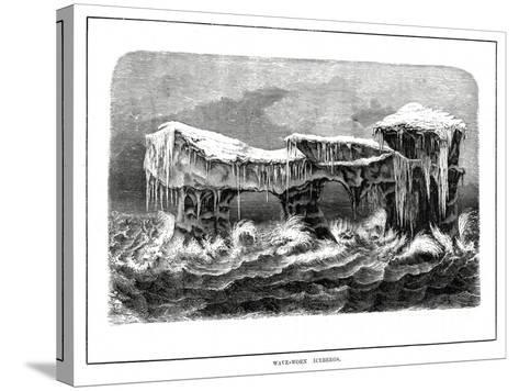 Wave-Worn Icebergs, 1877--Stretched Canvas Print