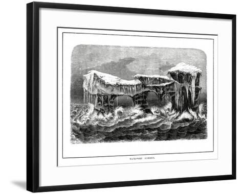Wave-Worn Icebergs, 1877--Framed Art Print