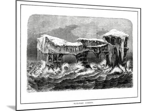Wave-Worn Icebergs, 1877--Mounted Giclee Print