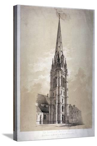 Tower of the Church of St Matthew, Great Peter Street, Westminster, London, 1850-Day & Son-Stretched Canvas Print
