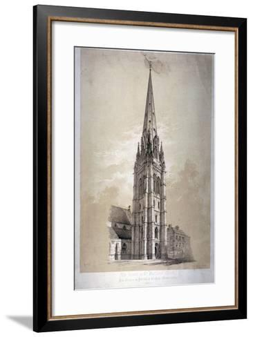 Tower of the Church of St Matthew, Great Peter Street, Westminster, London, 1850-Day & Son-Framed Art Print