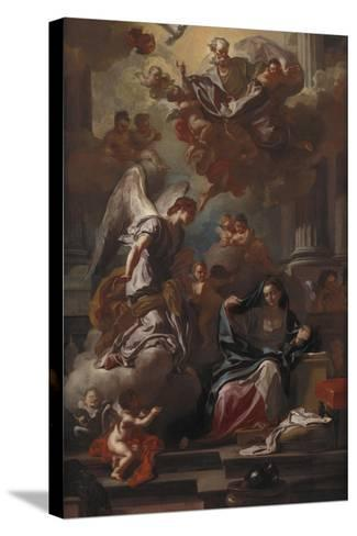 The Annunciation-Francesco Solimena-Stretched Canvas Print