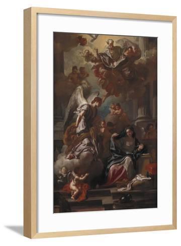 The Annunciation-Francesco Solimena-Framed Art Print