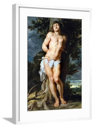 Saint Sebastian, C. 1618-Peter Paul Rubens-Framed Art Print