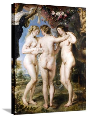 The Three Graces, C. 1635-Peter Paul Rubens-Stretched Canvas Print