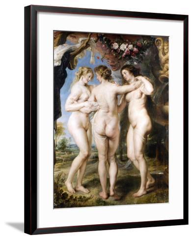 The Three Graces, C. 1635-Peter Paul Rubens-Framed Art Print