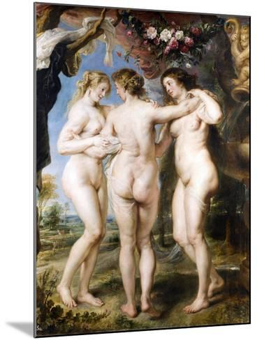 The Three Graces, C. 1635-Peter Paul Rubens-Mounted Giclee Print