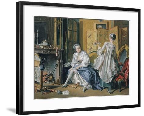 La Toilette, 1742-Fran?ois Boucher-Framed Art Print